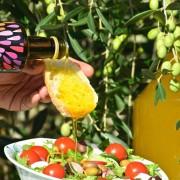 taggiasca olive oil on salad