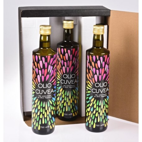 Gift box with 3 bottle of taggiasca oil